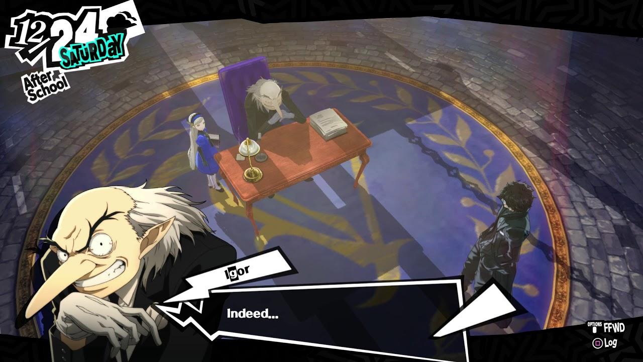 Persona 5 12 24 Velvet Room Joker Meets True Igor