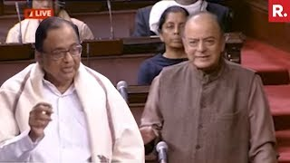 Budget 2018: Arun Jaitley Vs Chidambaram Over NPAs In Rajya Sabha