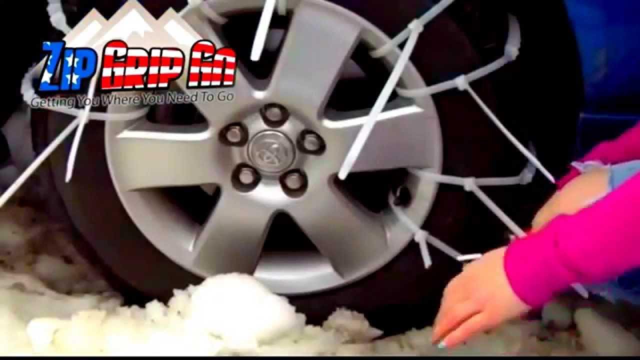 f211071fe2c9 ZIP GRIP GO zipgripgo TIRE CHAINS from zip ties - YouTube