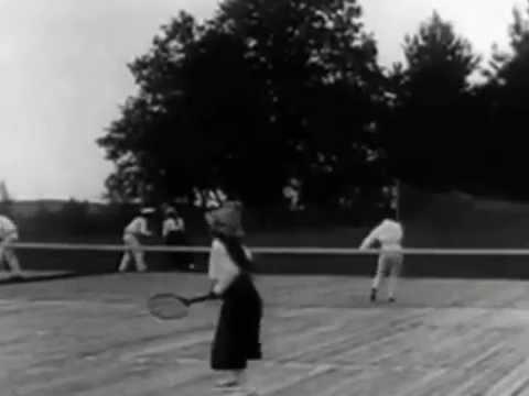 Grand Duchesses Maria & Anastasia Romanov Playing Tennis Footage