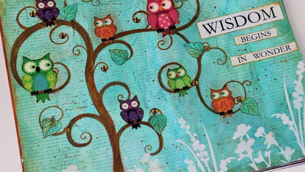 Art Journal Calendar Tutorial : Art journal tutorial wisdom page mixed
