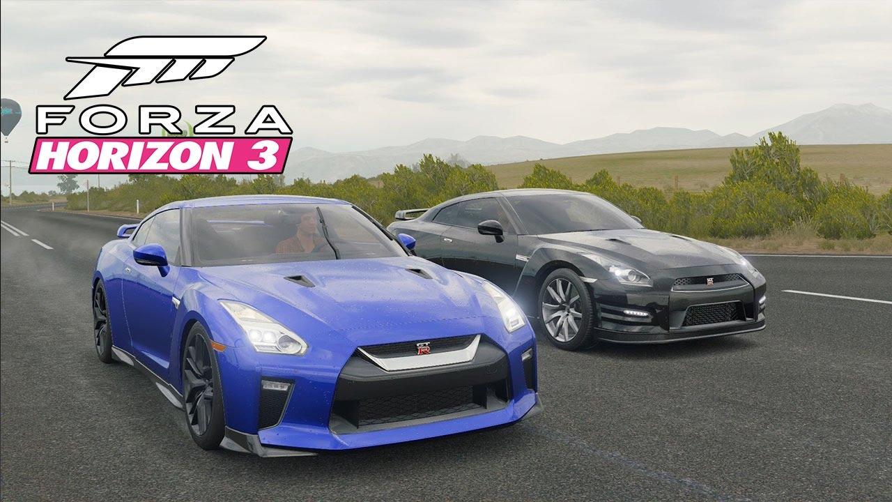 2017 nissan gtr vs 2012 nissan gtr black edition - street racing