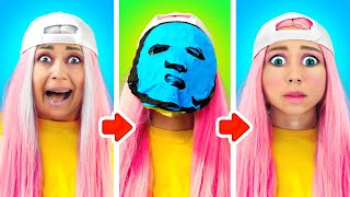 100 LAYERS Food Makeup Hairspray Clothes CHALLENGE | Funny Siblings Struggles by La la Life Musical