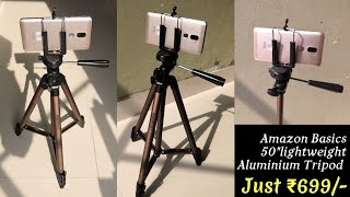 TRIPOD AmazonBasics 50-Inch Lightweight Tripod with Bag unbox & review