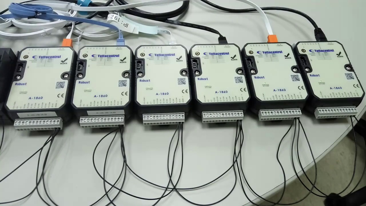 WEINTEK HMI communicate with the YOTTACONTROL ETHERNET IO module