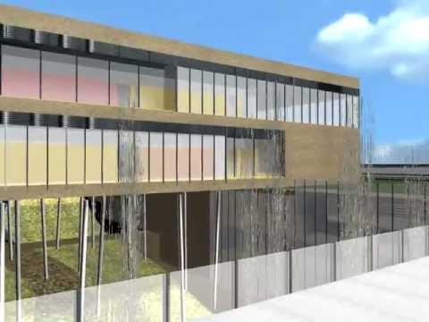 Ampliaci n edificio farmacia ucm mtm arquitectos youtube for Restaurante escuela de arquitectos madrid