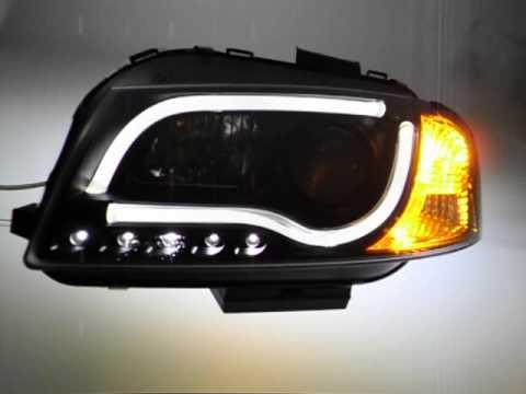 sw ltube scheinwerfer audi a3 8p black led lighttube sw. Black Bedroom Furniture Sets. Home Design Ideas