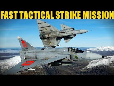 Syria Campaign: FRANTIC Strike Mission To Destroy Fuel Depot | Harrier & Viggen | DCS WORLD
