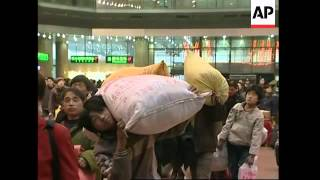 Millions of migrant workers head home for New Year
