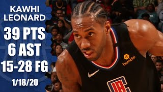 Kawhi Leonard scores game-high 39 points in Clippers vs. Pelicans | 2019-20 NBA Highlights