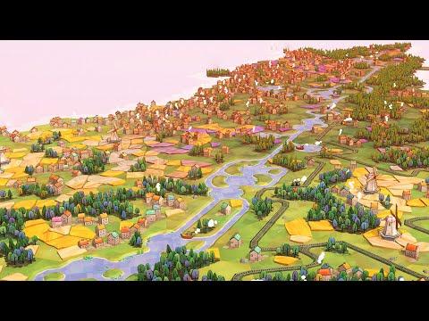 NEW - Building Perfect Villages, Farms, Railroads, & Canals | Dorfromantik City Builder Gampelay