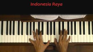Indonesia Raya Anthem Piano Tutorial SLOW