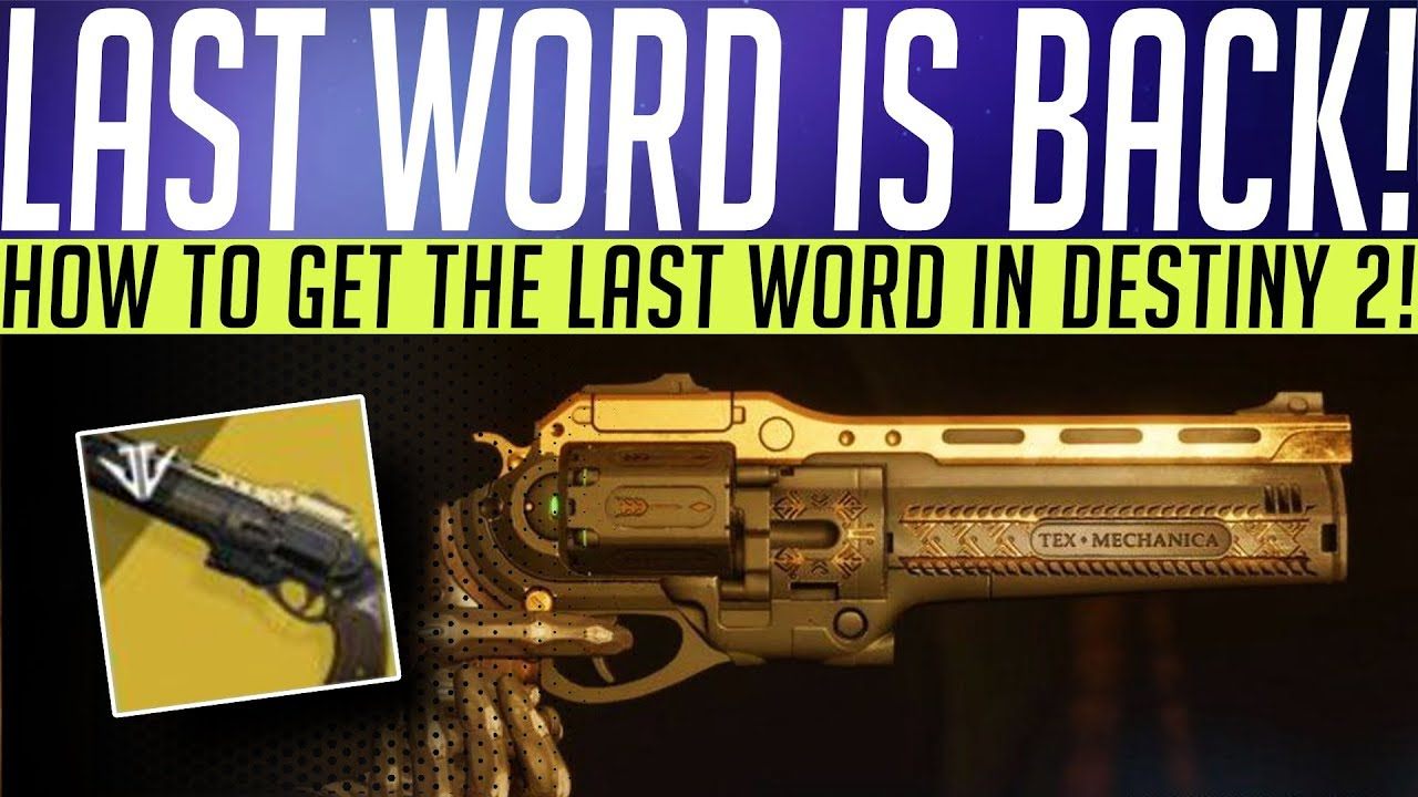 Destiny 2 // How To Get THE LAST WORD! Quest Guide, Easy