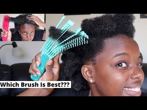 Detangling My 4C Hair with Viral EZ Brush vs. Felicia Leatherwood Brush