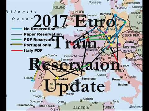 2017 Euro Train Reservation Update