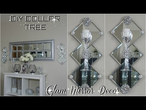 DOLLAR TREE DIY MIRROR DECOR | DIY EASY & INEXPENSIVE | GLAM HOME DECOR IDEAS 2018