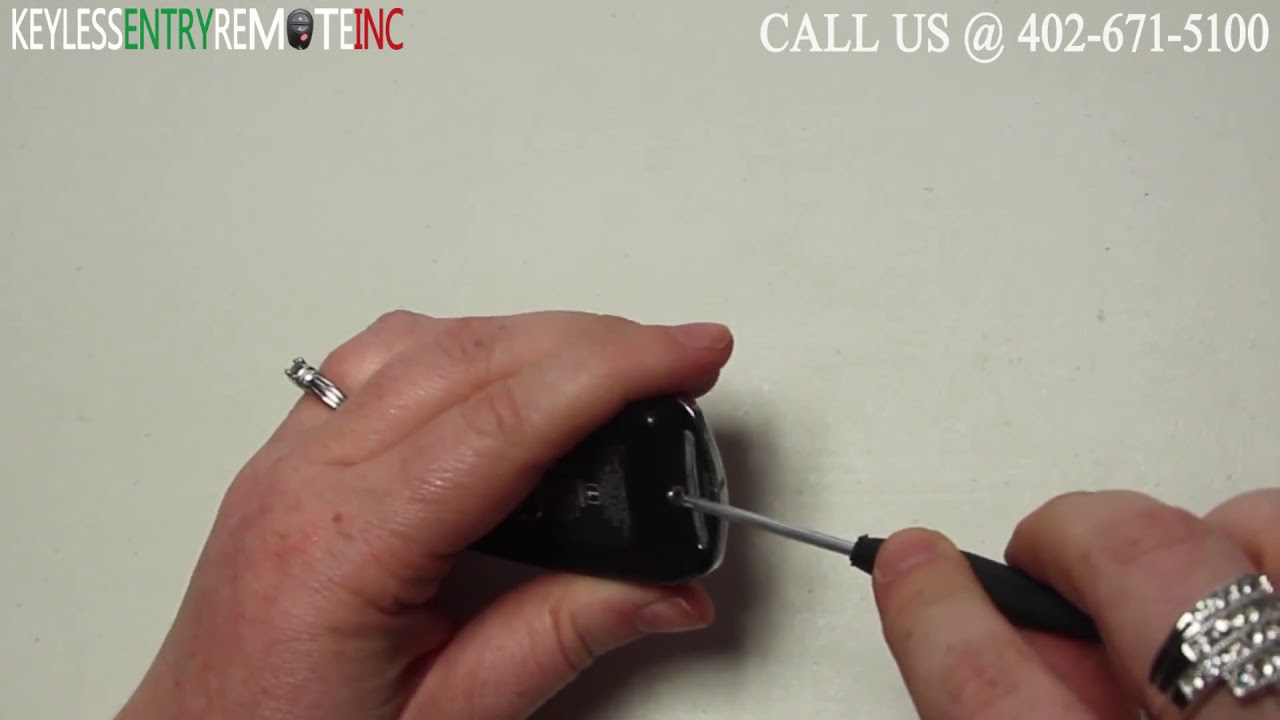 how to replace acura tsx key fob battery 2009 2010 youtube