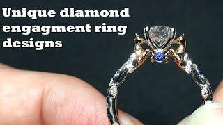 Unique Diamond Engagement Rings Settings/Designs, Bespoke Engagement Ring For Women
