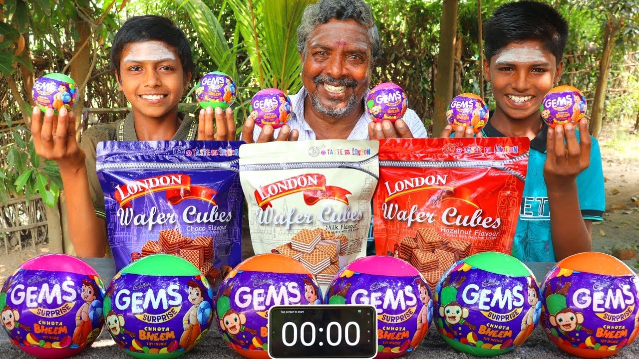 LONDON WAFER CUBES EATING CHALLENGE | GEMS CHOCOLATE EATING CHALLENGE | FOOD CHALLENGE INDIA