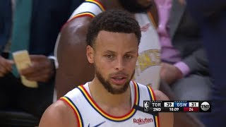 Stephen Curry FIRST BASKET Since Injury - Raptors vs Warriors | March 5, 2020