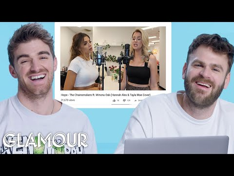 The Chainsmokers Watch Fan Covers on YouTube | Glamour