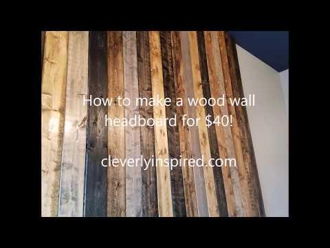 DIY Wood Wall Headboard for $40
