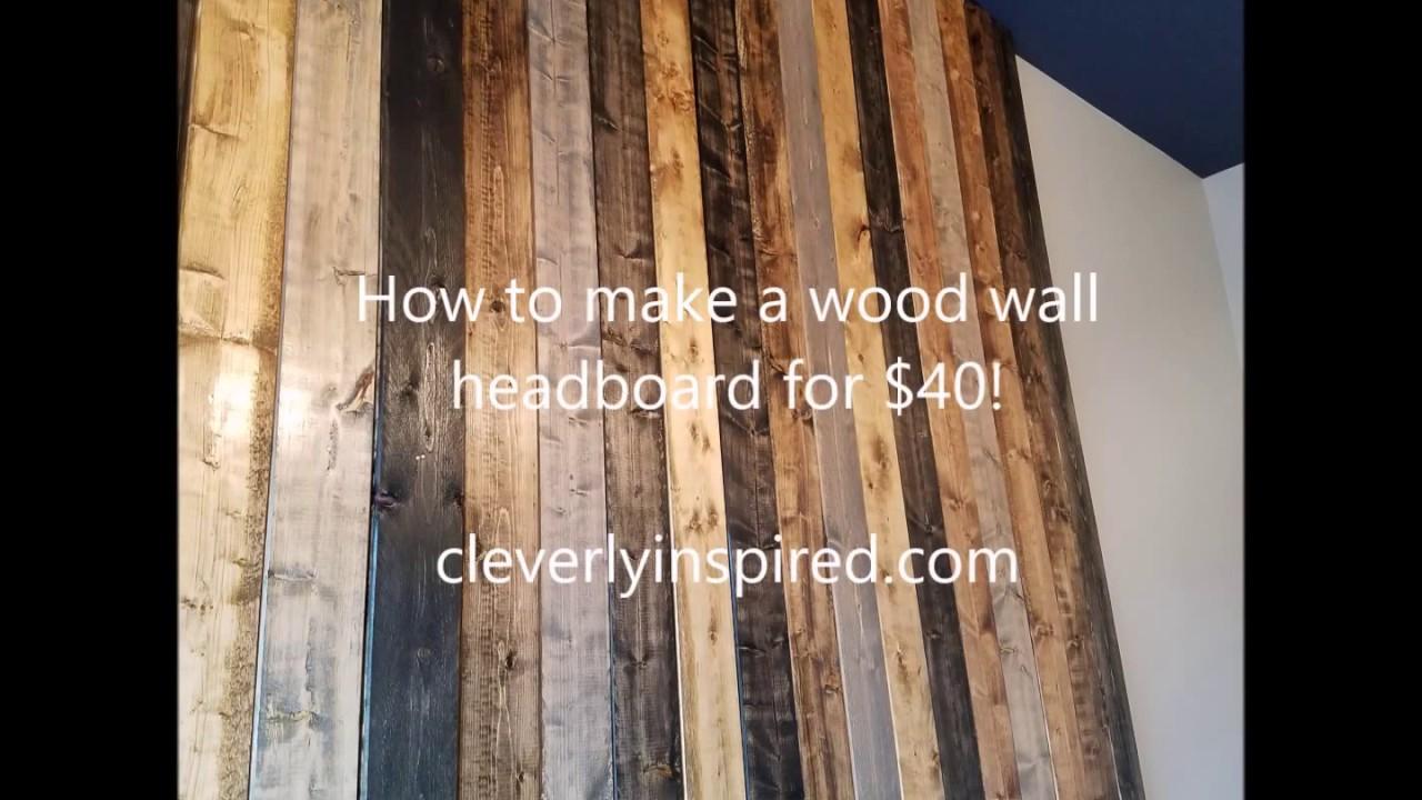 Diy Wood Wall Headboard For 40