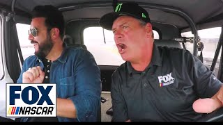 Michael Waltrip Takes Daryl Motte For A Ride Around The Charlotte Roval | Nascar Race Hub