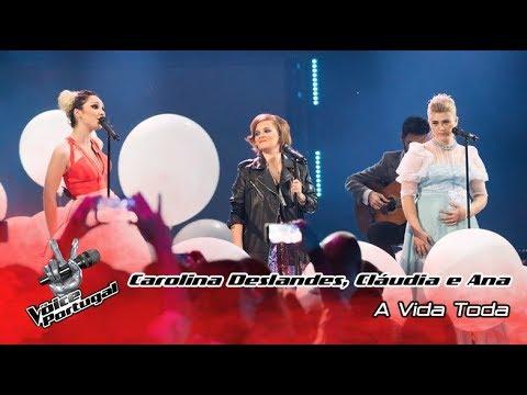 Carolina Deslandes, Cláudia Pascoal e Ana Paula -