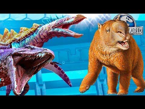 Бой за Дипротодона Jurassic World игра