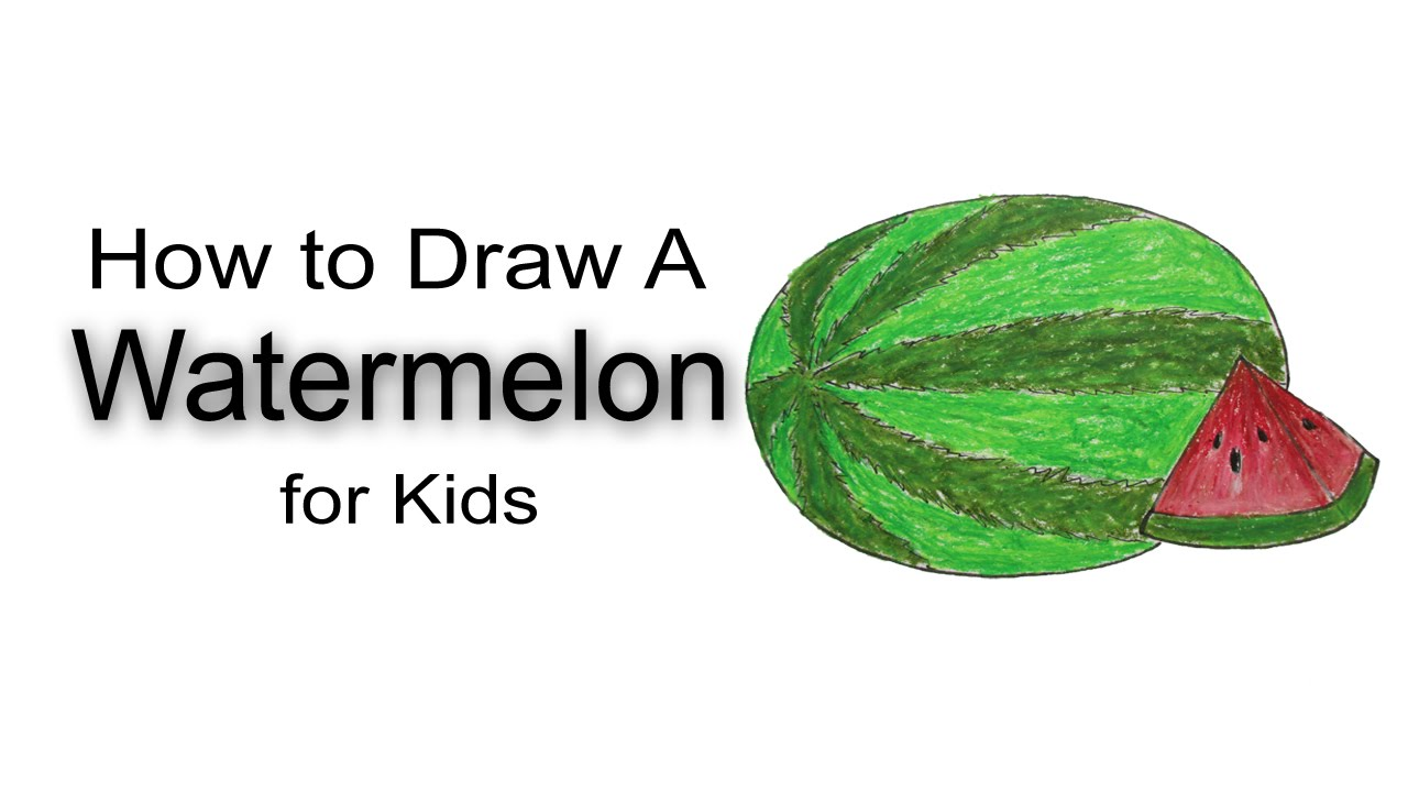 How to Draw A Watermelon for Kids - YouTube for Watermelon Drawing For Kids  110ylc