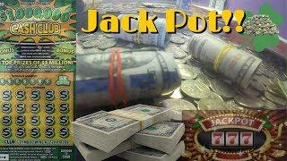 Lucky Jackpot! Won Coin Pusher, Scratch Off, & Slot Machine!