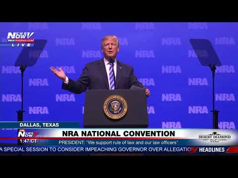 NRA SPEECH: President Trump delivers remarks at national convention in Dallas, TX (FNN)