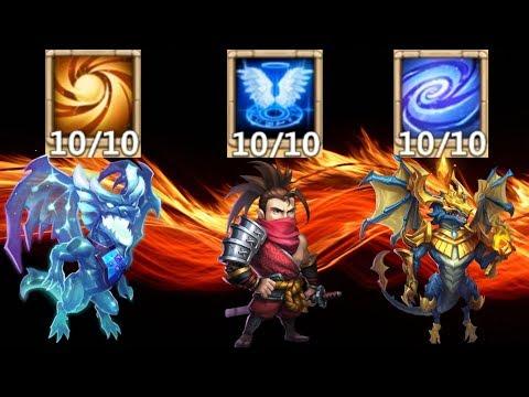 Level 10 Talents X3 | 10 Sacred Light | 10 Empowered | 10 Revive | Castle Clash