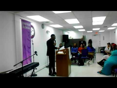 "Prophet Hakeem Collins ministering PART 2 of ""What's Occupying Your Eden"""