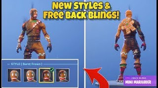 *NEW* MERRY MARAUDER & GINGER GUNNER Editable Styles + FREE BACK BLINGS! - Fortnite Battle Royale