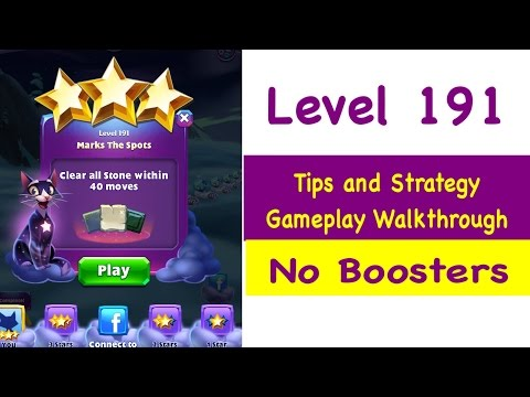 Bejeweled Stars Level 191 Tips and Strategy Gameplay Walkthrough No Boosters