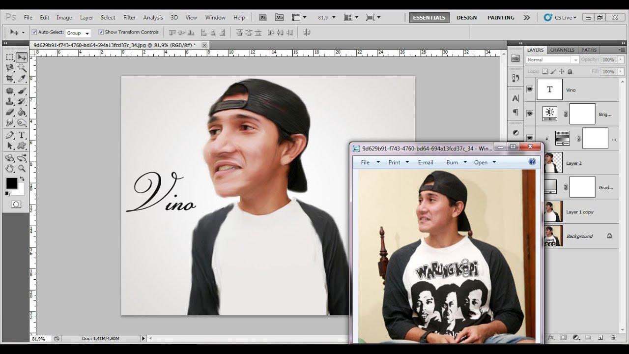 Cara Membuat Karikatur Dengan Photoshop Terbaru Youtube