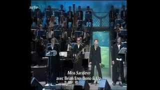 "BONO & PAVAROTTI präsentieren den Titel ""MISS SARAJEVO"""