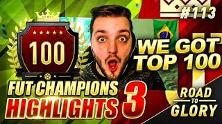 LET'S GO! WE GOT TOP 100!! FUT CHAMPS ON THE ROAD TO GLORY! FIFA 20 ULTIMATE TEAM #113