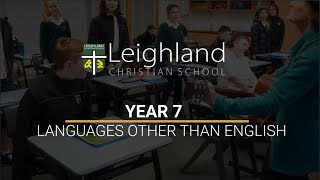 Year 7 -  Languages Other Than English LOTE