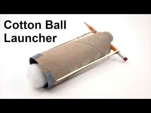 Cotton Ball Launcher - Fun STEM Activity