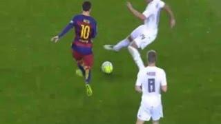 هكذا اوقف المصارع كاسيميرو اغلب انطلاقات ميسي في مباراة الكلاسيكو – برشلونة × ريال مدريد ( 2016 )