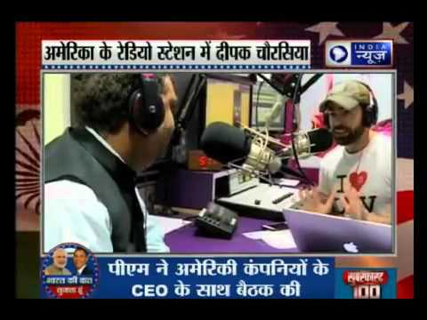India News Editor-in-Chief Deepak Chaurasia on Sunny Moza's Radio Show