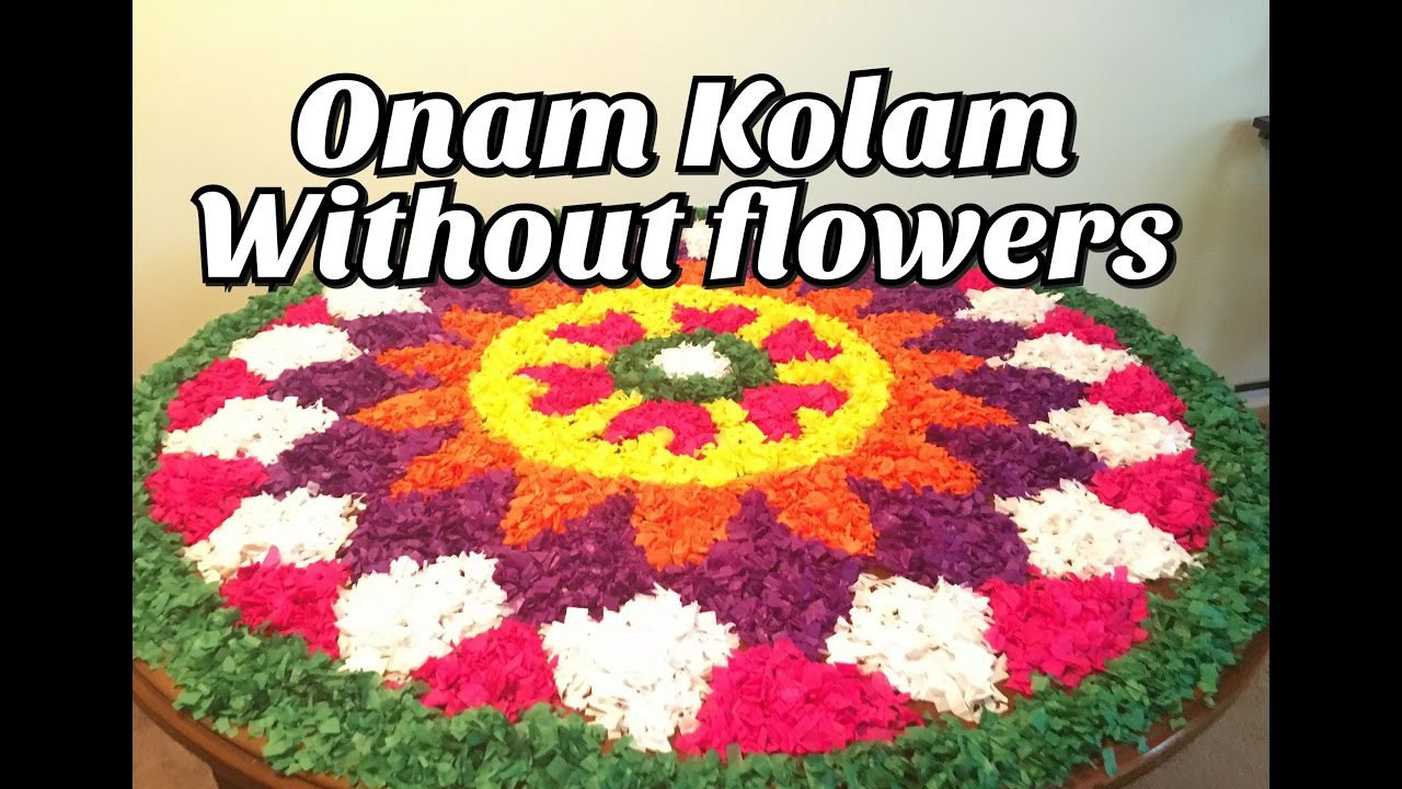 diy onam kolam without flowers hc 4 youtube