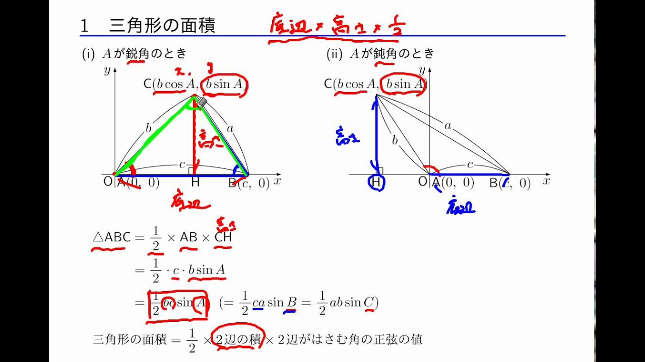 数学I 「図形の計量」 2-1 三角形の面積