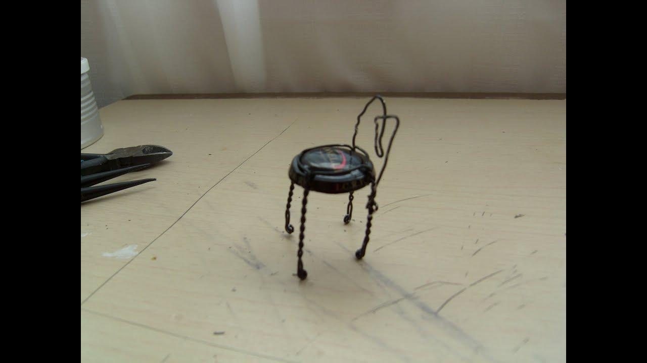 Cómo hacer una silla miniatura. - YouTube
