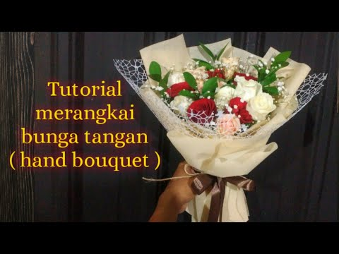 DIY Cara Membuat Buket Bunga Tangan   #merangkaibunga