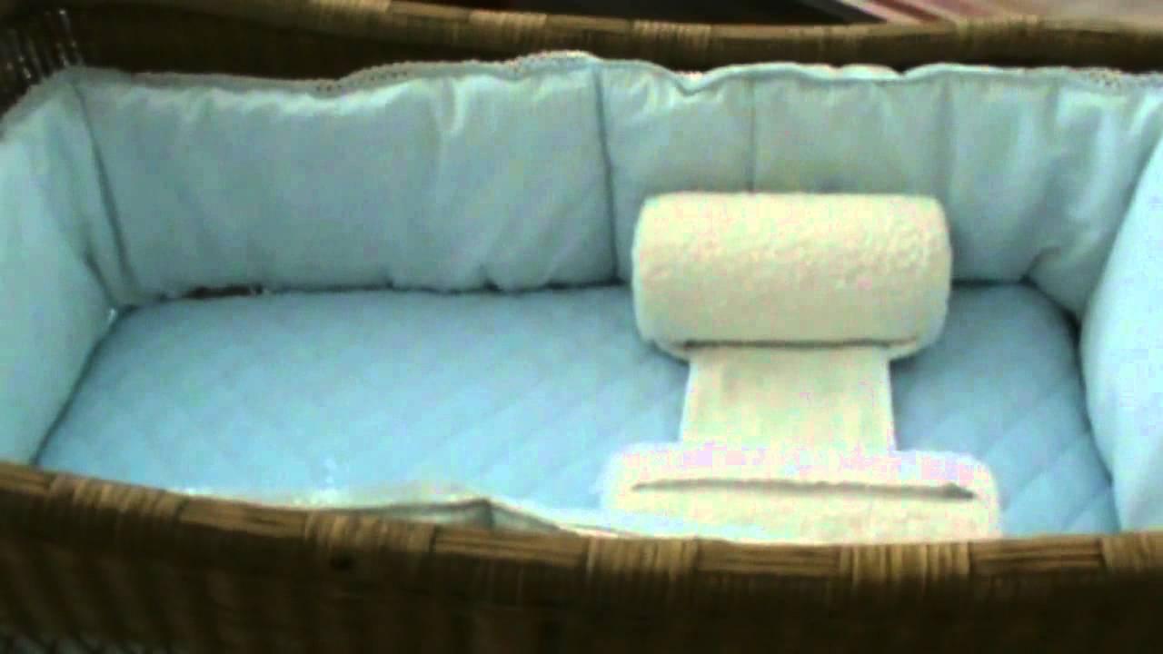 Prevencion de muerte de cuna inclinacion adecuada del cunero o moises youtube - Cuna de mimbre para bebe ...