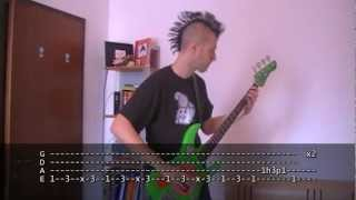 Suck My Kiss bass TAB Red Hot Chili Peppers